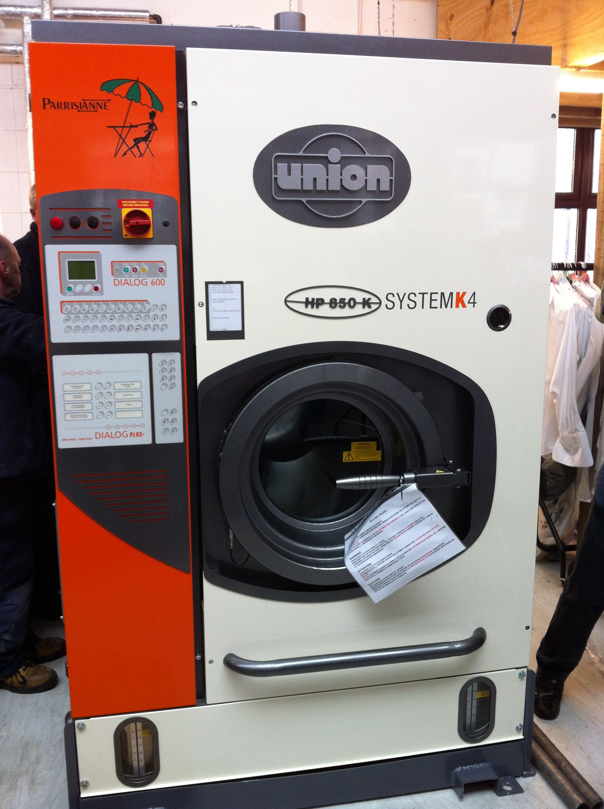 Union Multisolvent K-Series, alternative solvent dry cleaning machine, Solvon K4 dry cleaning